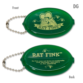 Mooneyes Key Chain - Rat Fink Coin Purse - Green
