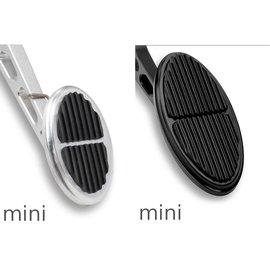 Lokar Drive By Wire Mini Oval Billet Aluminum w/ Rubber Insert