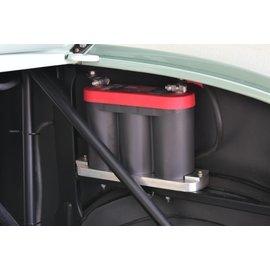Johnson's Hot Rod Shop Battery Mounts - 6V Optima - Machine Finished - 210-003