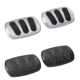 Lokar RestoMod Series 55-57 Chevy Brake/Clutch Curved Pedal Pads (Pair)