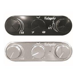 Vintage Air Gen IV ProLine Control - 3-Knob Oval - Horizontal