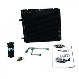 Vintage Air 66-77 Bronco W/ V8 Core Support Gen IV SureFit™ Condenser Kit W/ Drier - 012001