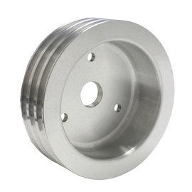 Vintage Air ProLine Crankshaft Pulley - Triple Groove - Machined Aluminum  - Big Block Chevy - Short Pump - 22402-VCQ