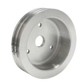 Vintage Air ProLine Crankshaft Pulley - Double Groove - Machined Aluminum  - Big Block Chevy - Short Pump - 22401-VCQ