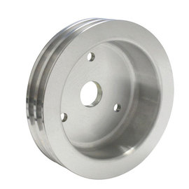 Vintage Air ProLine Crankshaft Pulley - Double Groove - Machined Aluminum  - Small Block Chevy - Short Pump - 22304-VCQ