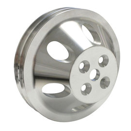 Vintage Air ProLine Water Pump Pulley - Double Groove - Machined Aluminum  - Small Block Chevy -Short Pump -  22303-VCQ
