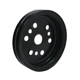 Vintage Air OEM Style Crankshaft Steel Pulley -  Double Groove -  Small Block Chevy - Short Pump - 22506-VCA