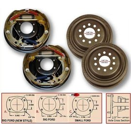 """So-Cal So-Cal 9"""" Ford Rear Drum Brake Kit Dual Drilled New Late Style Big Bearing  - 00165475"""