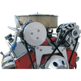Vintage Air Small Block Chevy Chrome ProLine A/C & Alternator Bracket - LWP - 17227-VCQ