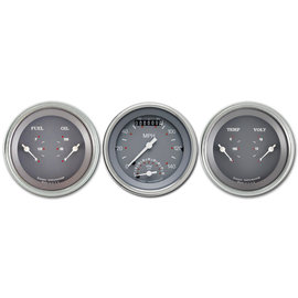 "Classic Instruments 3 Gauge Set - 3 3/8"" Ultimate Speedo & Two 3 3/8"" Duals - SG Series - SG34SLF"
