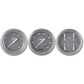 "Classic Instruments 3 Gauge Set - 4 5/8"" Speedo, Tach & Quad Gauges - SG Series - SG53SLF"