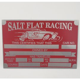 Affordable Street Rods E9 Vin Tag - Salt Flat Racing Timing Association