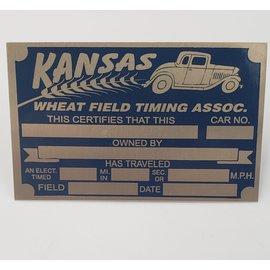 Affordable Street Rods G4 Vin Tag - Kansas Timing Association