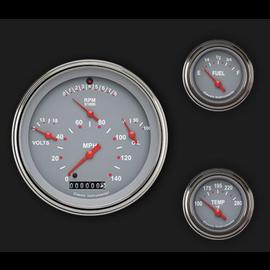 Classic Instruments 3 Gauge Set - Tetra Series - Gray - TE01GSLF