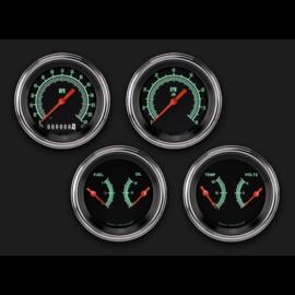 """Classic Instruments 4 Gauge Set - 3 3/8"""" Speedo, Tach, & 2 Duals - G-Stock"""