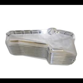 RPC 58-79 SBC Finned Alum Oil Pan – Driver Side Dipstick - S8442