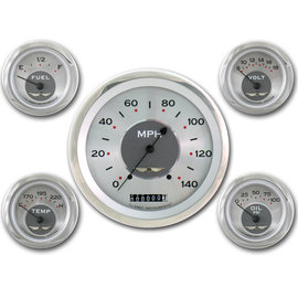 "Classic Instruments 5 Gauge Set - 4 5/8"" Speedo, 2 1/8"" Short Sweep FOTV - All American Series - AW54SRC"