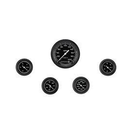 "Classic Instruments 5 Gauge Set - 3 3/8"" Speedo, 2 1/8"" Full Sweep FOTV - AutoCross Gray Series"