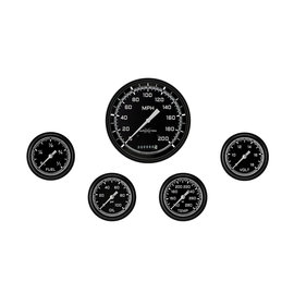 "Classic Instruments 5 Gauge Set - 4 5/8"" Speedo, 2 5/8"" Full Sweep FOTV - AutoCross Gray Series"