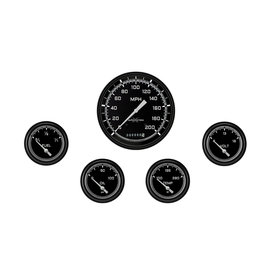 "Classic Instruments 5 Gauge Set - 4 5/8"" Speedo, 2 5/8"" Short Sweep FOTV - AutoCross Gray Series"