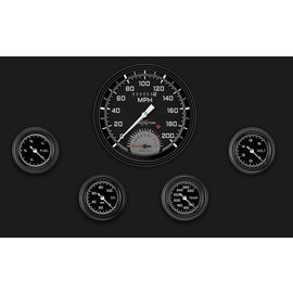 "Classic Instruments 5 Gauge Set - 4 5/8"" Speedtachular, 2 1/8"" Full Sweep FOTV - AutoCross Gray Series - AX165GBLF"