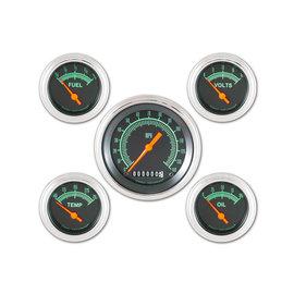 "Classic Instruments 5 Gauge Set - 3 3/8"" Speedo, 2 1/8"" Short Sweep FOTV - G-Stock Series - GS00SLF"
