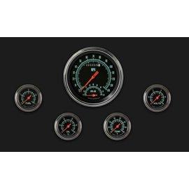 "Classic Instruments 5 Gauge Set - 4 5/8"" Speedtachular, 2 1/8"" Full Sweep FOTV - G-Stock Series - GS165SLF"