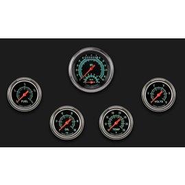 "Classic Instruments 5 Gauge Set - 3 3/8"" Ultimate Speedo, 2 5/8"" Full Sweep FOTV - G-Stock Series - GS300SLF"