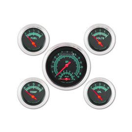 "Classic Instruments 5 Gauge Set - 3 3/8"" Ultimate Speedo, 2 5/8"" Short Sweep FOTV - G-Stock Series - GS35SLF"