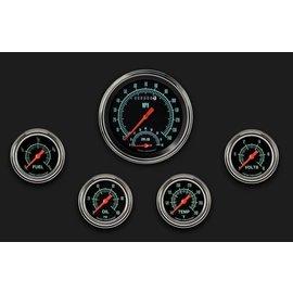 "Classic Instruments 5 Gauge Set - 4 5/8"" Speedtachular, 2 5/8"" Full Sweep FOTV - G-Stock Series - GS365SLF"