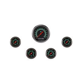 "Classic Instruments 5 Gauge Set - 3 3/8"" Speedo, 2 1/8"" Full Sweep FOTV - G-Stock Series"