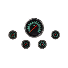 "Classic Instruments 5 Gauge Set - 4 5/8"" Speedo, 2 1/8"" Full Sweep FOTV - G-Stock Series"