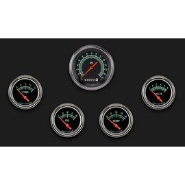 """Classic Instruments 5 Gauge Set - 3 3/8"""" Speedo, 2 5/8"""" Short Sweep FOTV - G-Stock Series"""