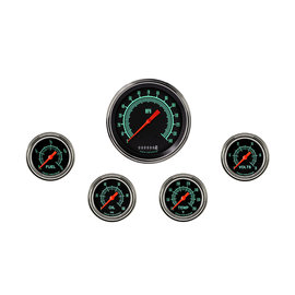 "Classic Instruments 5 Gauge Set - 4 5/8"" Speedo, 2 5/8"" Full Sweep FOTV - G-Stock Series"