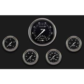 "Classic Instruments 5 Gauge Set - 4 5/8"" Speedtachular, 2 5/8"" Full Sweep FOTV - Hot Rod Series - HR365SLF"