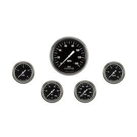 "Classic Instruments 5 Gauge Set - 4 5/8"" Speedo, 2 5/8"" Full Sweep FOTV - Hot Rod Series"