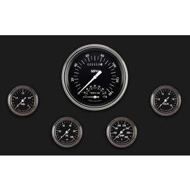 "Classic Instruments 5 Gauge Set - 4 5/8"" Speedtachular, 2 1/8"" Full Sweep FOTV - Hot Rod Series - HR165SLF"