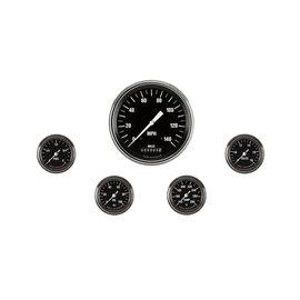 "Classic Instruments 5 Gauge Set - 4 5/8"" Speedo, 2 1/8"" Full Sweep FOTV - Hot Rod Series"