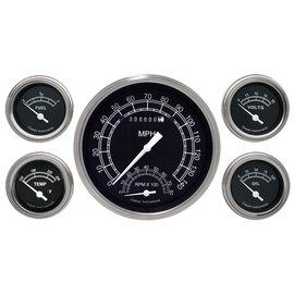 "Classic Instruments 5 Gauge Set - 4 5/8"" Speedtachular, 2 1/8"" Short Sweep FOTV - Traditional Series - TR65SLF"