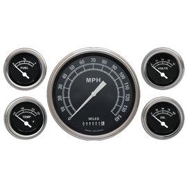"Classic Instruments 5 Gauge Set - 4 5/8"" Speedo, 2 1/8"" Short Sweep FOTV - Traditional Series - TR54SLF"