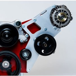 Kwik Performance Alt/PS Brackets - Wide Mount for Truck/LS3 Camaro Balancer - Type II - K10168