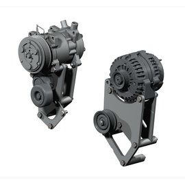 Kwik Performance AC/Alt Bracket - High Mount for F-Body Balancer - 508/709 - K10236