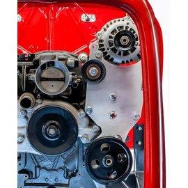 Kwik Performance Alt/PS Brackets - High Mount for Truck/LS3 Camaro Balancer - Type II - K10209