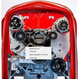 Kwik Performance AC/Alt/PS Brackets - High Mount for F-Body Balancer - 508/709 - Type II - K10233
