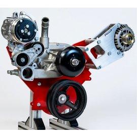 Kwik Performance Compact AC Bracket for Truck/LS3 Camaro Balancer - SD7B10 Compressor- K10291