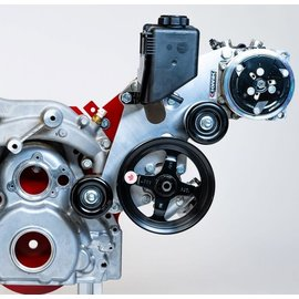 Kwik Performance AC/PS Brackets for LT1 Camaro - 508/709 Compressor - Include Type II Pump - K10466