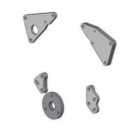 Kwik Performance BBC (94-00) Early Serpentine Conversion Kit with Crank Pulley Adapter - K10543