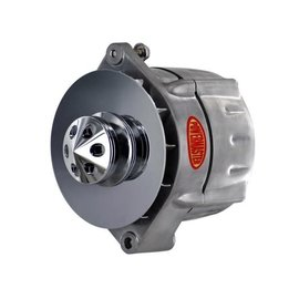 Powermaster Performance Alternator - Smooth Look - 12si-Style - 100Amp - Brushed - 17295-360