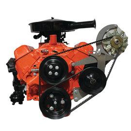 Vintage Air Steel-eez Mid-Mount SBC SWP Alternator & Power Steering Pump Brackets - 148000