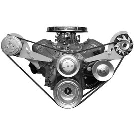 Vintage Air Big Block Chevy with Long Pump Side-Mount Brackets - Alternator Only driver side - 15838-VCB